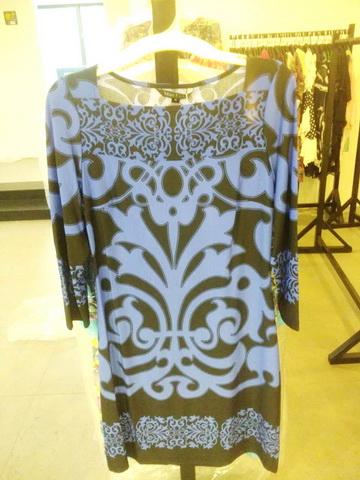 超肥大妈装连衣裙新款特价MAXLULU高端短袖纯连衣裙