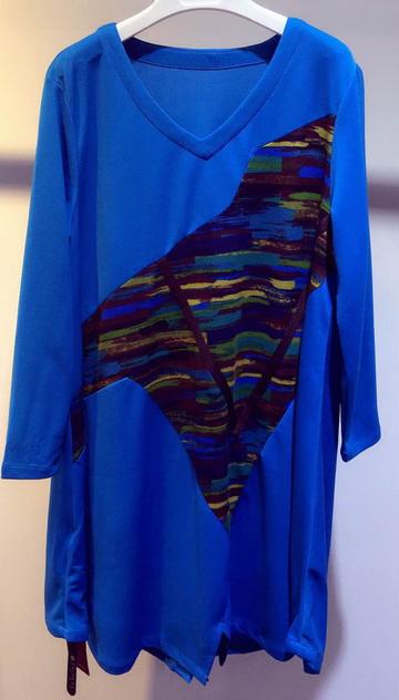 专柜同步新款高档大码16年春装晴天明月连衣裙