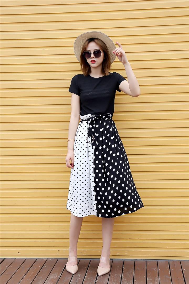 抖音直播女装货源20年时尚浪漫女装杰茜雅连衣裙品牌折扣批发渠道