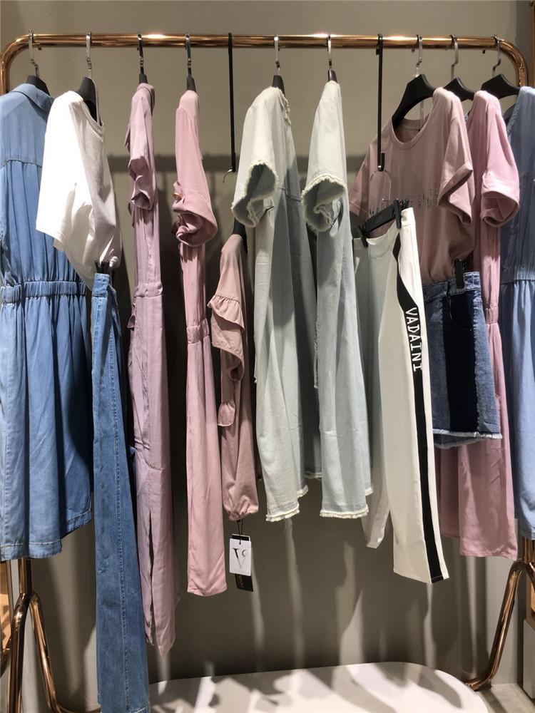 华丹妮品牌库存尾货夏装连衣裙批发推荐
