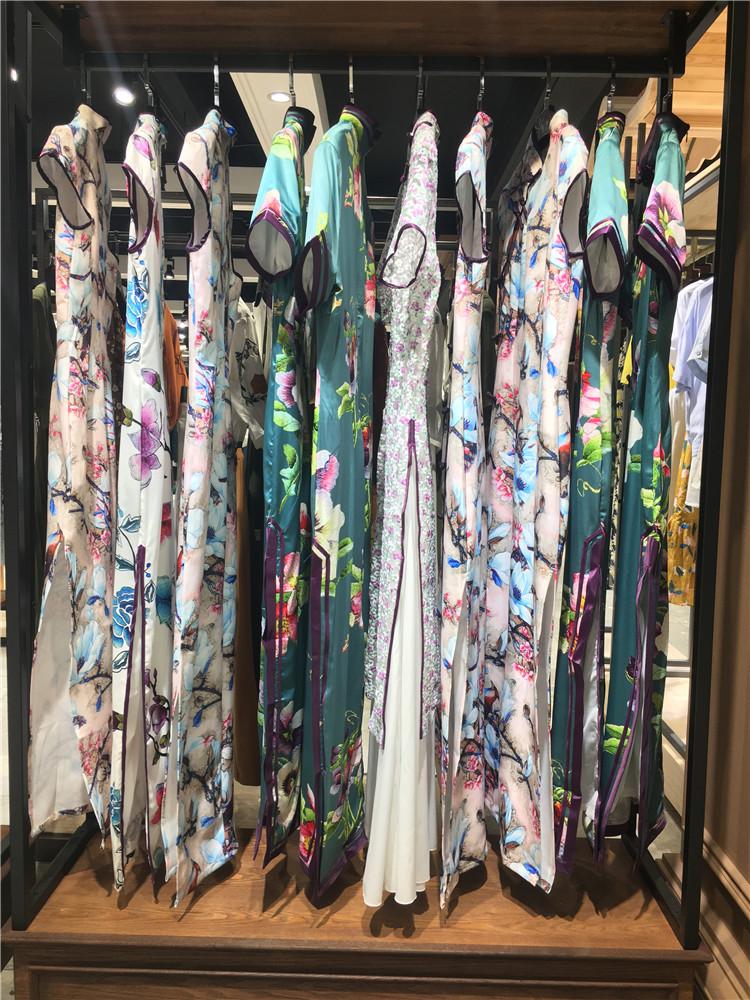 最新款中国古代传统旗袍珍爱一生全连衣裙