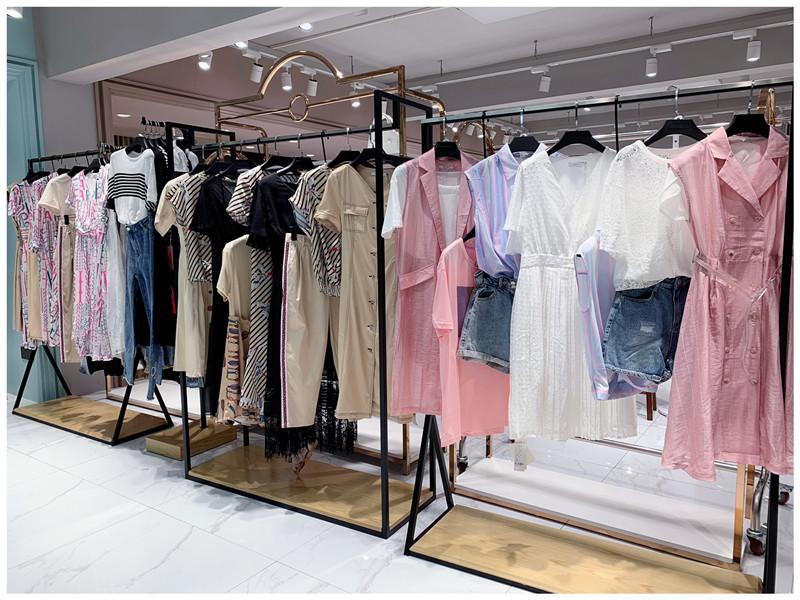 2020春季新款品牌折扣女装百搭气质优雅显瘦连衣裙直播女装一手货源