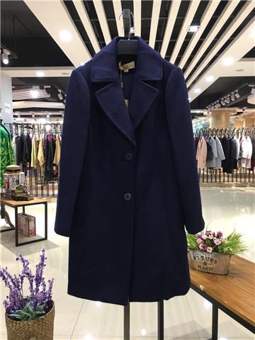 韩嘉依秋冬装新款秋冬外套 中长款呢子毛呢大衣
