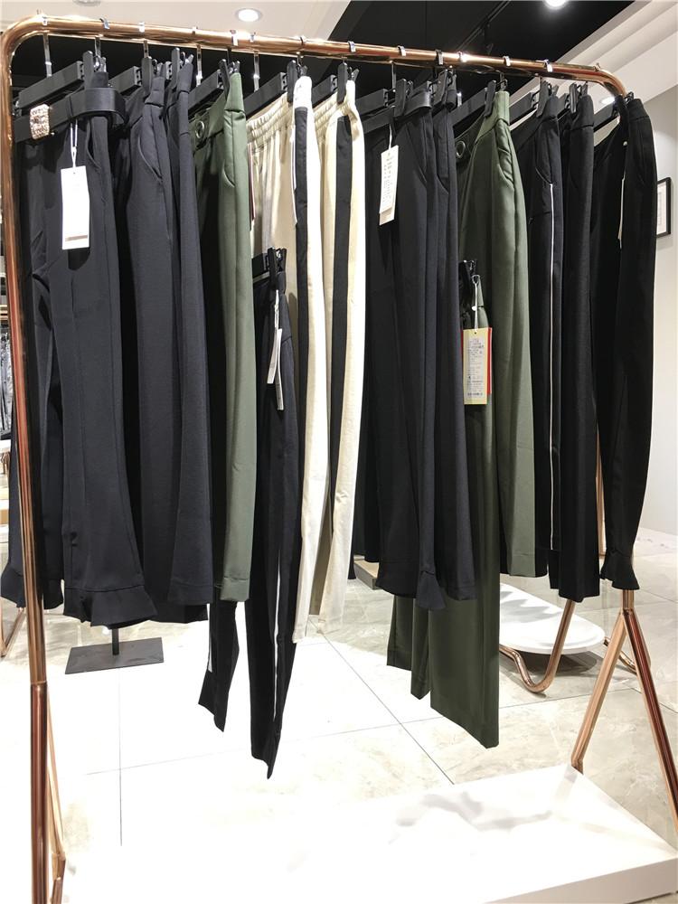 供应幕思雨阔腿裤女中长裤春夏季薄款女裤