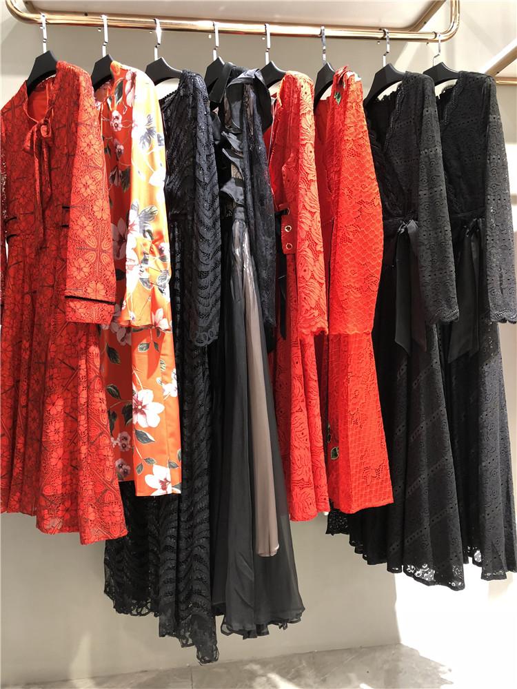 欧美大牌专柜款欧源时尚重工女装连衣裙