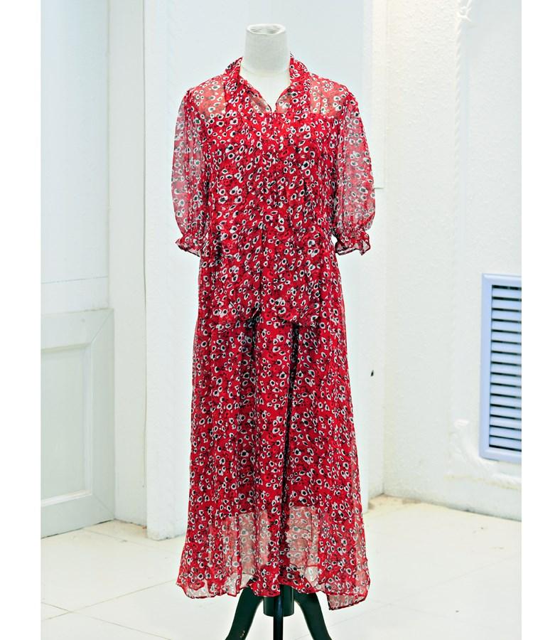 桑蚕丝连衣裙杭州折扣女装尾货库存批发折扣女装尾货哪里拿货