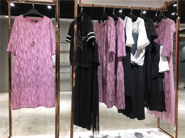 歌瑞鑫2020夏装新品女装修身短款印花连衣裙