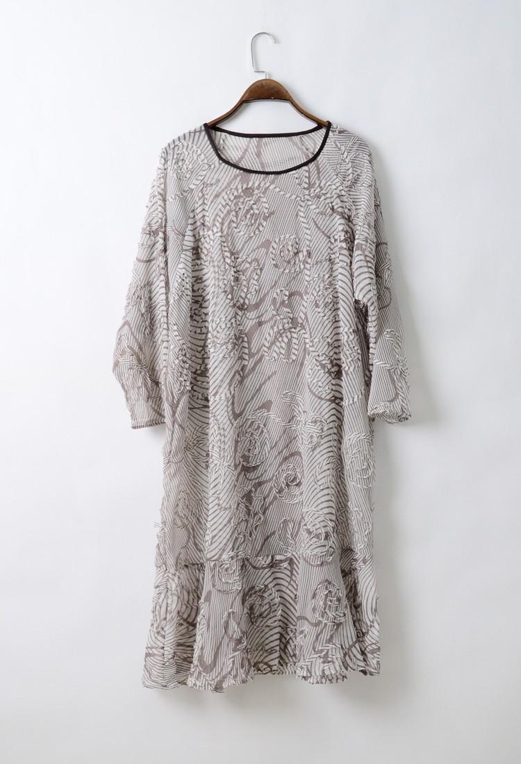 晴天明月夏装时尚女装批发杭州中老年时尚大码品牌折扣女装尾货哪里拿货