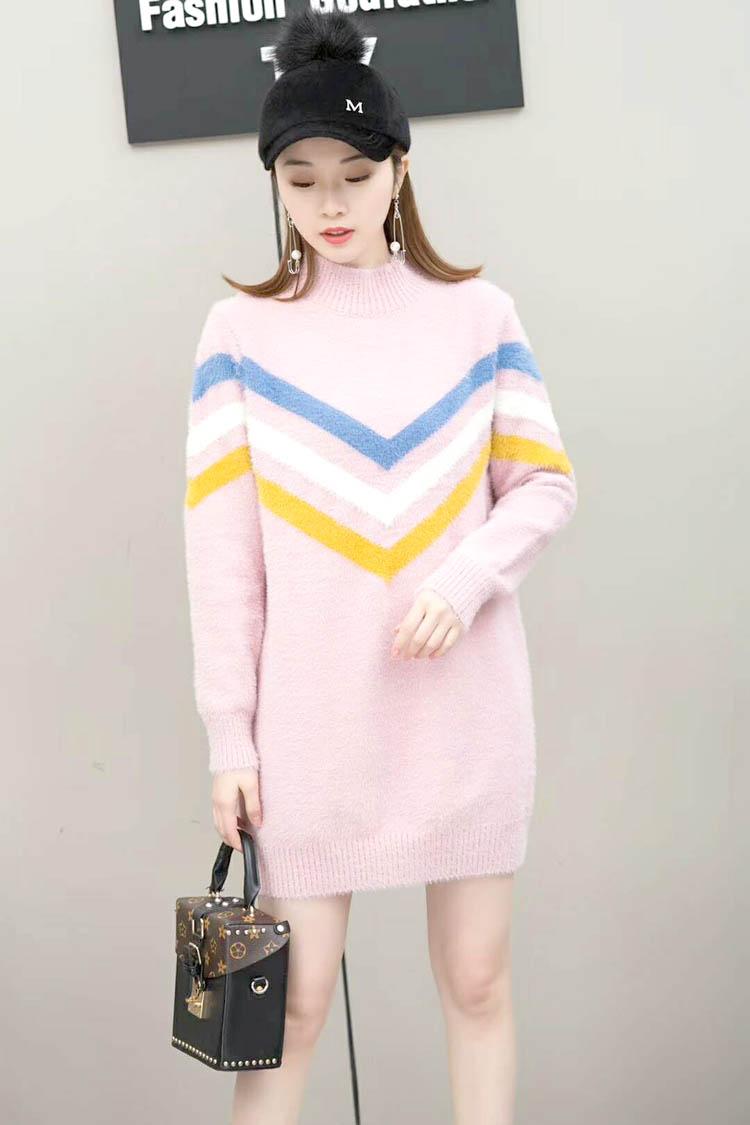 黄金貂材质打底毛衫时尚品牌折扣女装批发折扣女装尾货哪里拿货