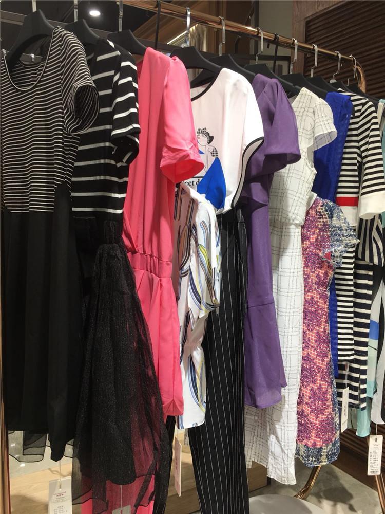 诗萌蒂20女夏装时尚淑女品牌折扣女装尾货走份混批