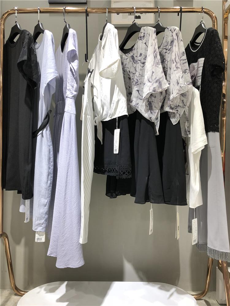 佰佧丽夏季时尚修身连衣裙品牌折扣女装尾货