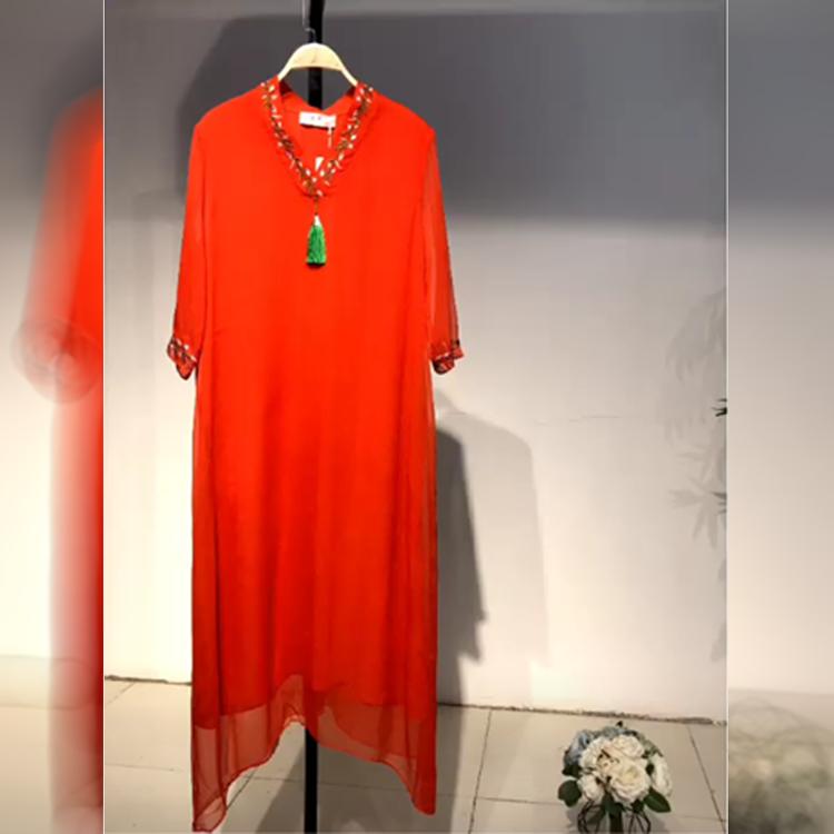 沐恩2020夏季时尚品牌折扣尾货库存女服装批发官网折扣女装尾货哪里拿货