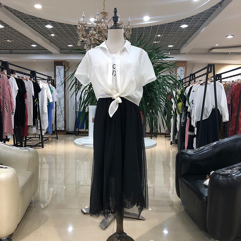 2020夏女人屋新款连衣裙休闲套装大码宽松夏装品牌折扣折扣女装尾货哪里拿货