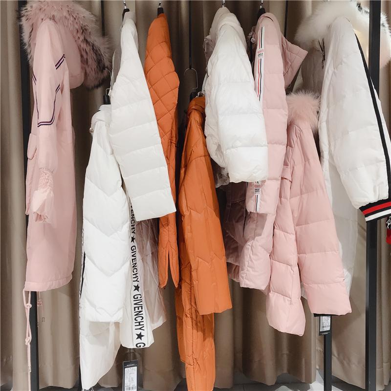 诺羽萱羽绒服品牌折扣女装货源   专柜正品清仓货源抖音直播女装货源
