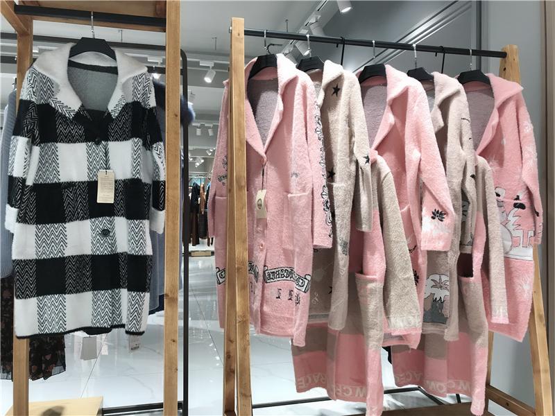 英博水貂绒大衣品牌折扣女装批发   专柜正品货源渠道抖音直播女装货源